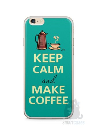 Capa Iphone 6/S Plus Keep Calm and Make Coffee