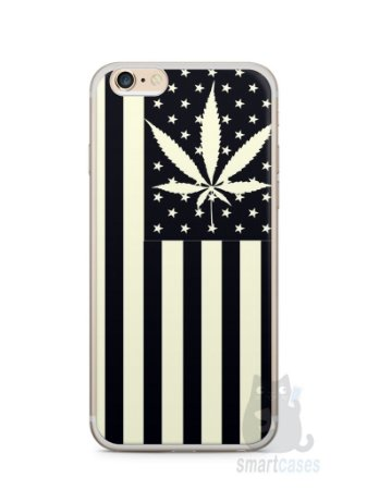 Capa Iphone 6/S Plus Maconha Bandeira EUA