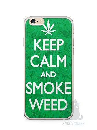 Capa Iphone 6/S Plus Keep Calm and Smoke Weed
