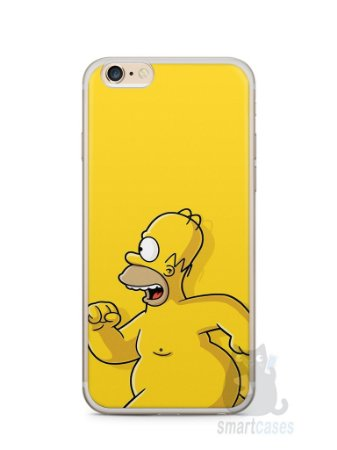 Capa Iphone 6/S Plus Homer Simpson Correndo Pelado