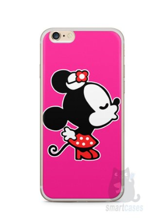Capa Iphone 6/S Plus Mickey e Minnie Beijo