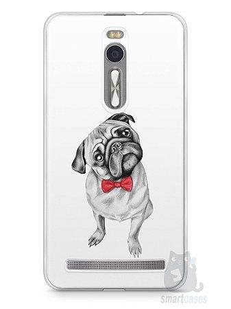 Capa Zenfone 2 Cachorro Pug Estiloso #2