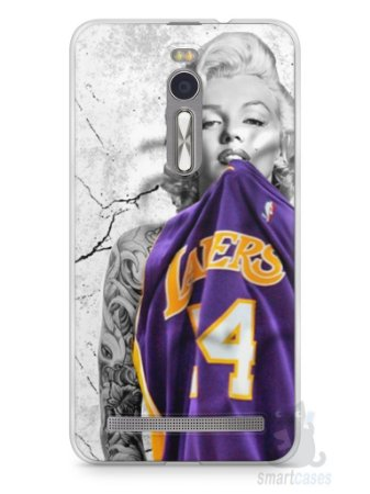 Capa Zenfone 2 Marilyn Monroe Lakers
