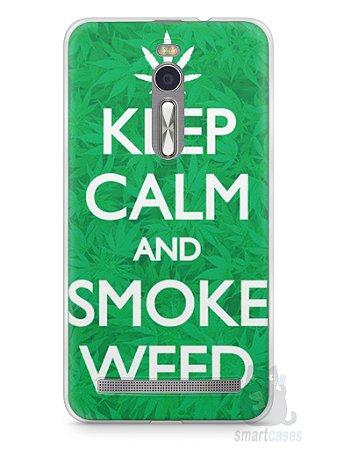 Capa Zenfone 2 Keep Calm and Smoke Weed