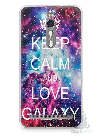 Capa Zenfone 2 Keep Calm and Love Galaxy