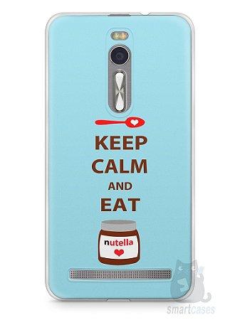 Capa Zenfone 2 Keep Calm and Eat Nutella