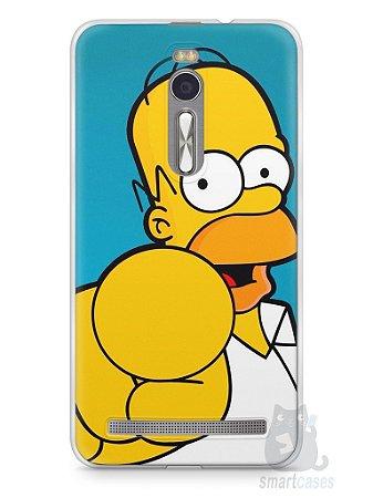 """Capa Zenfone 2 Homer Simpson """"Escolho Você"""""""