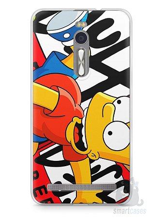 Capa Zenfone 2 Bart Simpson Duff