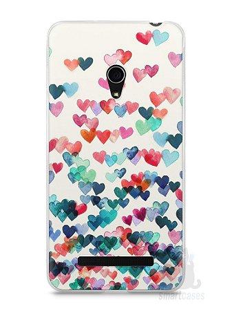 Capa Zenfone 5 Corações Coloridos