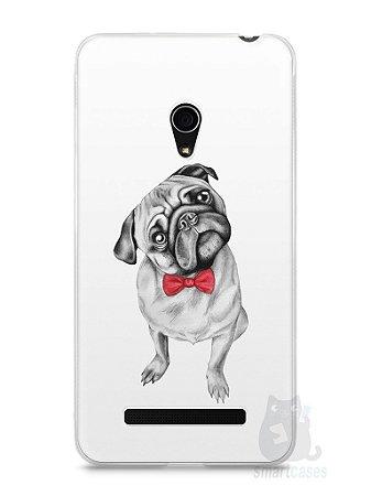 Capa Zenfone 5 Cachorro Pug Estiloso #2