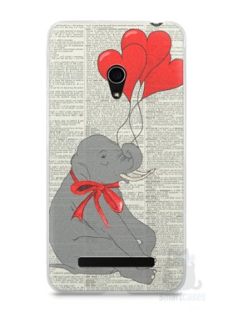 Capa Zenfone 5 Elefante e Corações