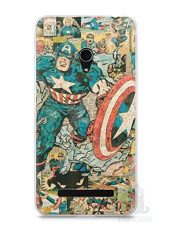 Capa Zenfone 5 Capitão América Comic Books #1
