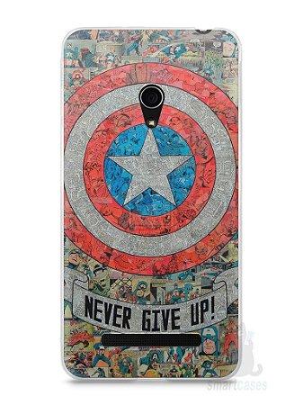 Capa Zenfone 5 Capitão América Comic Books #3