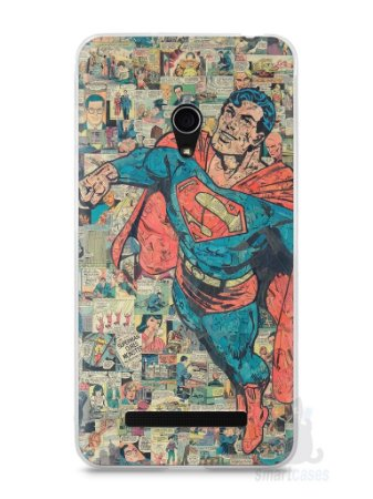 Capa Zenfone 5 Super Homem Comic Books