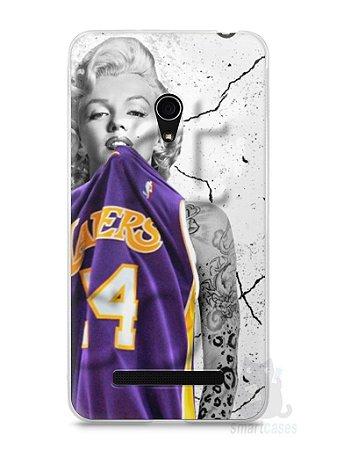 Capa Zenfone 5 Marilyn Monroe Lakers