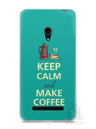 Capa Zenfone 5 Keep Calm and Make Coffee