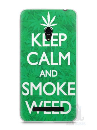 Capa Zenfone 5 Keep Calm and Smoke Weed
