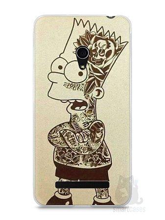 Capa Zenfone 5 Bart Simpson Tatuado