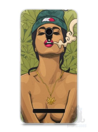 Capa Zenfone 5 Girl Smoking Weed
