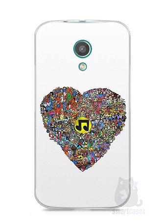 Capa Moto G2 Coração Personagens
