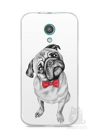 Capa Moto G2 Cachorro Pug Estiloso #2