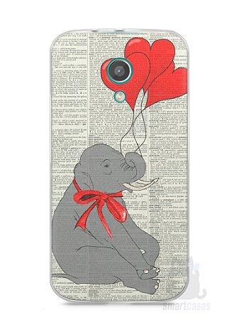 Capa Moto G2 Elefante e Corações
