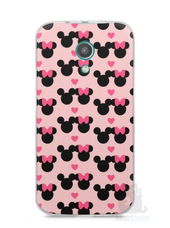 Capa Moto G2 Mickey e Minnie