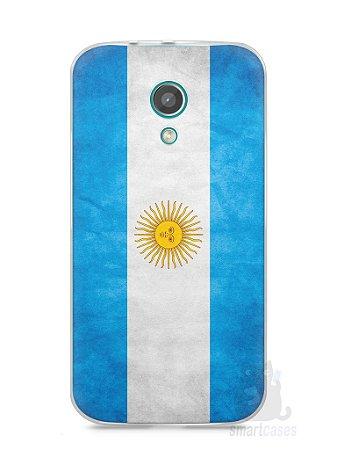 Capa Moto G2 Bandeira da Argentina