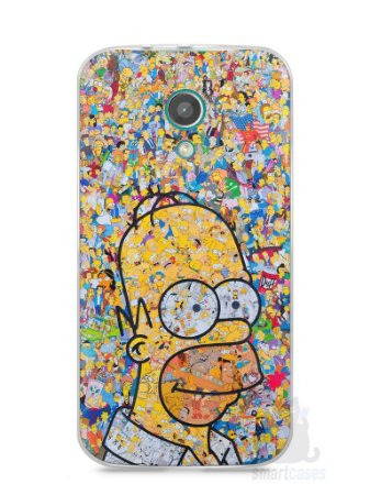 Capa Moto G2 Homer Simpson Comic Books