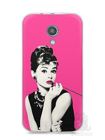 Capa Moto G2 Audrey Hepburn #4