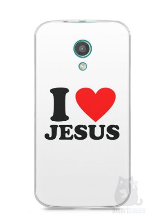 Capa Moto G2 I Love Jesus