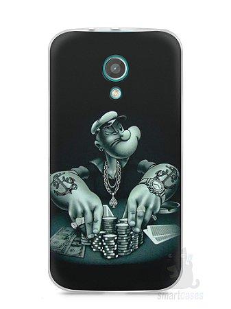 Capa Moto G2 Popeye Jogando Poker