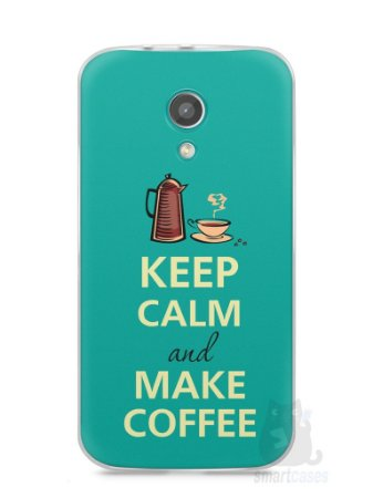 Capa Moto G2 Keep Calm and Make Coffee