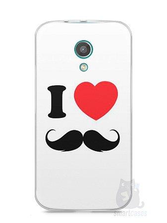 Capa Moto G2 I Love Bigode #1