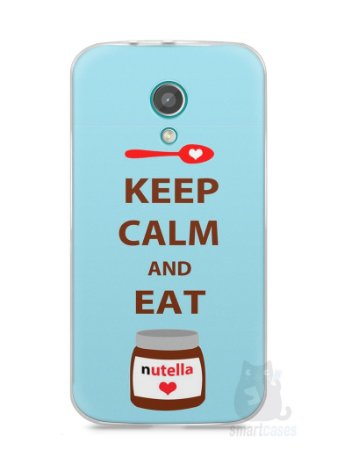 Capa Moto G2 Keep Calm and Eat Nutella