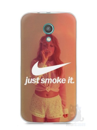 Capa Moto G2 Just Smoke It