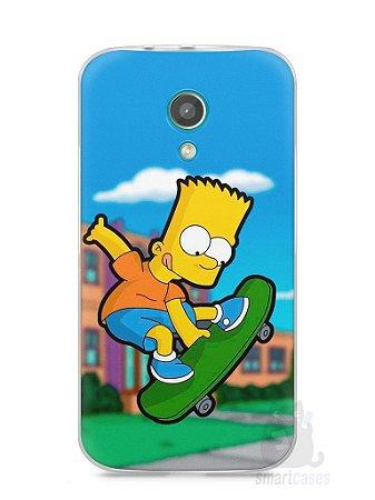 Capa Moto G2 Bart Simpson Skate