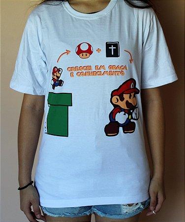 Camiseta Mário Crescendo Em Graça