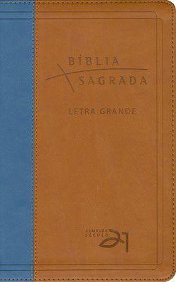Bíblia Sagrada - Letra Grande - Marrom e Azul (Almeida Séc. 21)