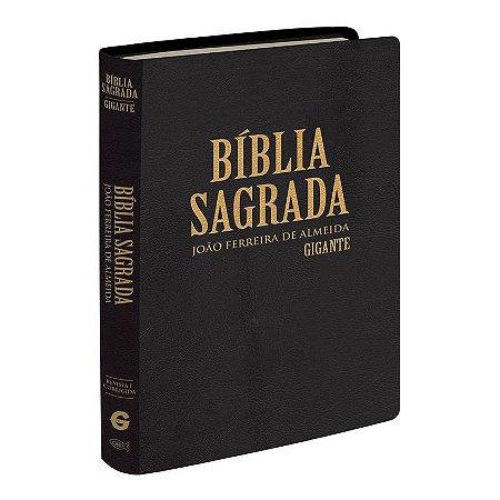 Bíblia Sagrada - Letra Gigante - Semi Luxo - Preto (Almeida Revista e Corrigida)