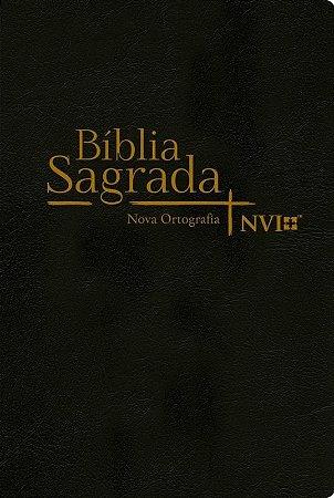 Bíblia Sagrada - Nova Ortografia - Semi Luxo - Preto (NVI)