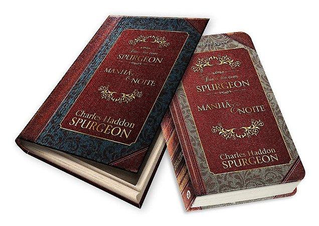 Livro - Dia a Dia com Spurgeon - Manhã e Noite - Capa Dura (Edição Luxo Caixa de Presente) - Azul - C.H Spurgeon
