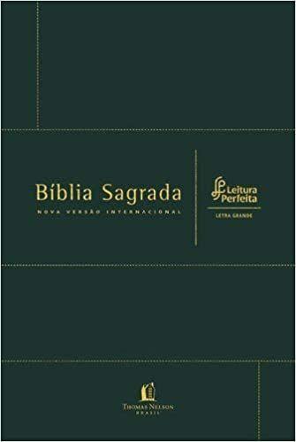 Bíblia - Nova Versão Internacional (NVI) - Leitura Perfeira - Letra Grande - Verde - Capa Couro - Thomas Nelson Brasil