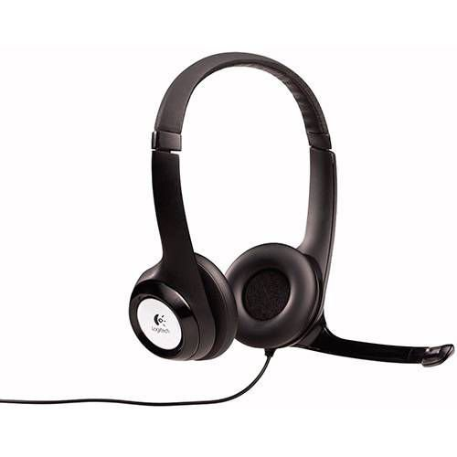HEADSET COM MICROFONE USB PRETO H390 LOGITECH 981-000014