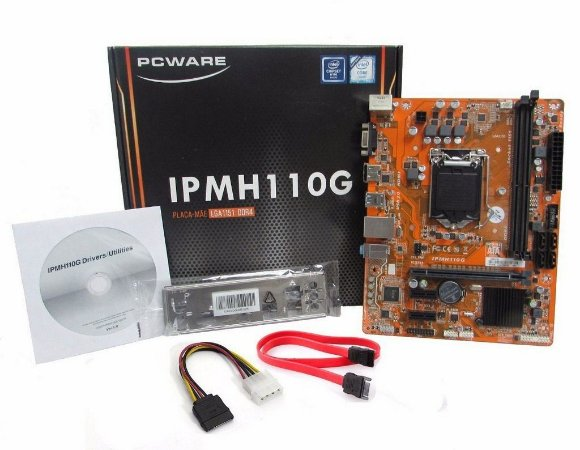 PLACA MÃE PCWARE ATX INTEL LGA 1151 IPMH110G