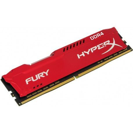 MEMORIA KINGSTON HYPERX FURY 16GB 2666MHZ DDR4 CL16 RED - HX426C16FR16