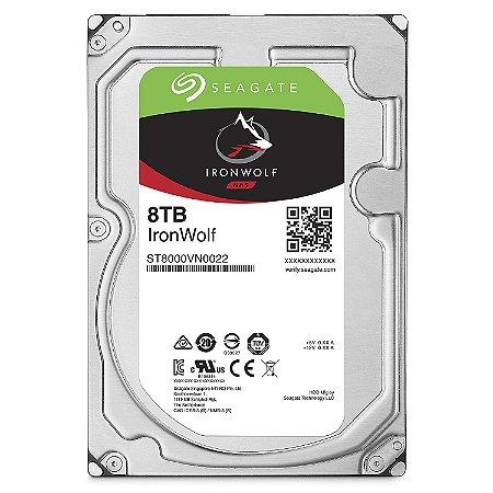 HD SEAGATE 8TB 7200RPM 256MB CACHE SATA 6GB/S IRONWOLF ST8000VN0022
