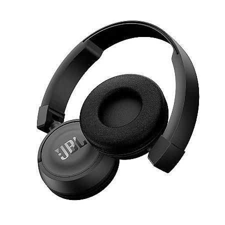 FONE DE OUVIDO SEM FIO JBL ON EAR HEADPHONE PRETO JBLT450BTBLK