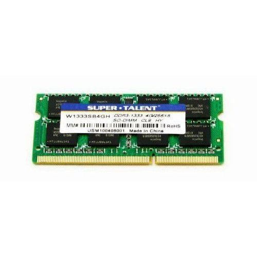 MEMORIA 4GB DDR3 1333 P/ NOTE SUPER TALENT W1333SB4GV