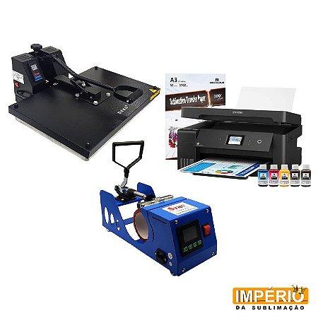 Kit Prensa Plana 40x60 Deko, + prensa de caneca digital  (Epson A3 L14150)